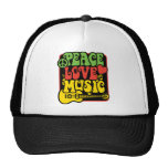 Rasta Peace Love Music Cap