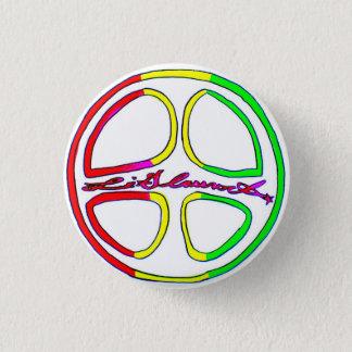 Rasta Peace Sign 3 Cm Round Badge