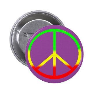Rasta Peace Sign Badge Pinback Buttons