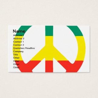 Rasta Peace Sign Business Card
