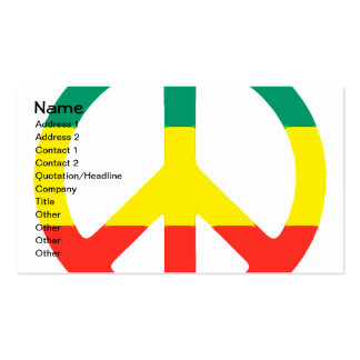 Rasta Peace Sign Pack Of Standard Business Cards