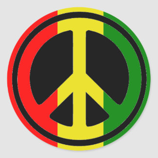 Rasta Peace Stickers