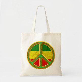 Rasta Peace Symbol Budget Tote Bag