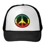 Rasta Peace Symbol Cap
