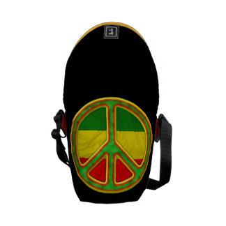 Rasta Peace Symbol Commuter Bag