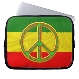 Rasta Peace Symbol Laptop Sleeve
