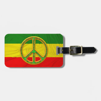 Rasta Peace Symbol Luggage Tag
