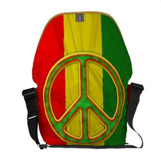 Rasta Peace Symbol Courier Bags