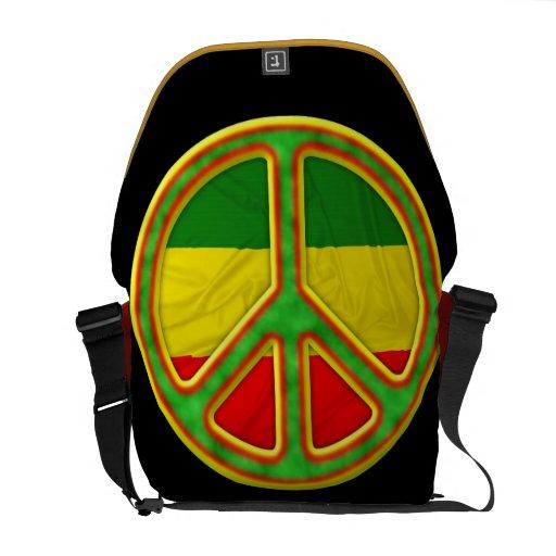 Rasta Peace Symbol Messenger Bag