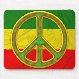 Rasta Peace Symbol Mouse Pad