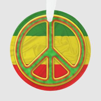 Rasta Peace Symbol Ornament