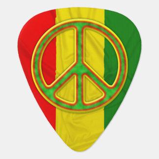 Rasta Peace Symbol Plectrum