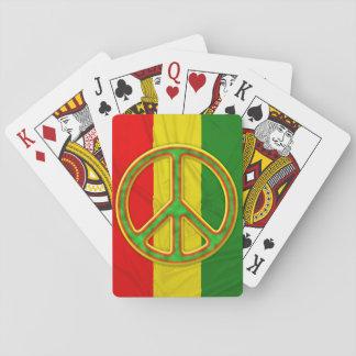 Rasta Peace Symbol Poker Deck