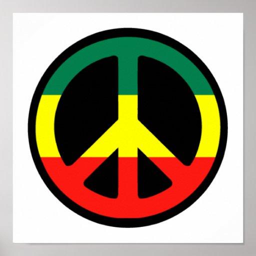 Rasta Peace Symbol Posters