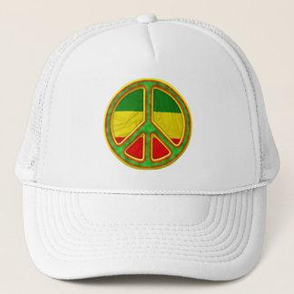 Rasta Peace Symbol Trucker Hat