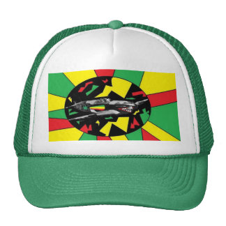 rasta plane trucker hats