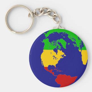 Rasta Planet Earth Key Chains