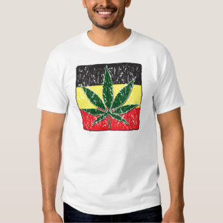 Rasta Pot Leaf T Shirt