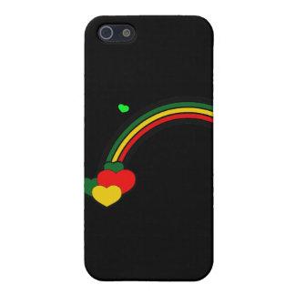 Rasta Rainbow and Hearts iPhone 5 Covers