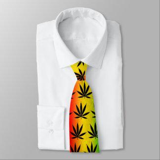 Rasta Rastafari Reggae Jamaica Leaf Neck Colorful Tie