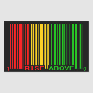 RASTA RECTANGULAR STICKER
