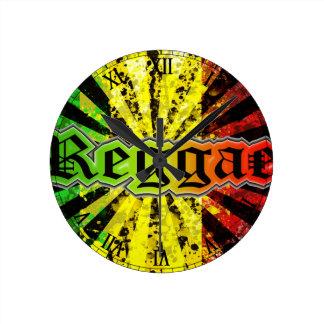 rasta reggae round clocks