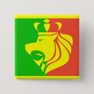 Rasta Reggae Flag and Lion 15 Cm Square Badge