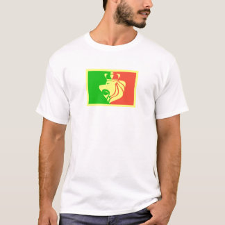 Rasta Reggae Flag with Crowned Lion T-Shirt