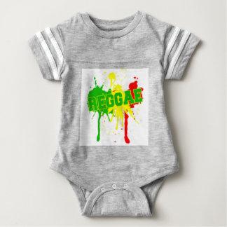 rasta reggae graffiti flag baby bodysuit