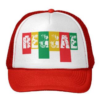 rasta reggae graffiti flag cap