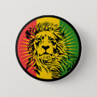 rasta reggae lion flag 6 cm round badge