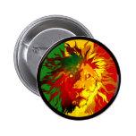 rasta reggae lion flag 6 cm round badge