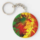 rasta reggae lion flag key ring