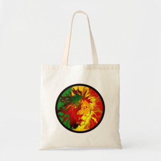 rasta reggae lion flag tote bag