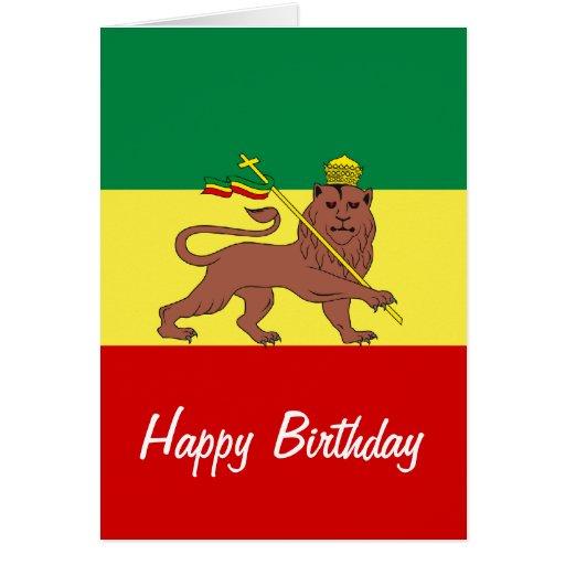 Rasta Reggae Lion of Judah Cards