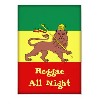 Rasta Reggae Lion of Judah Personalized Announcement