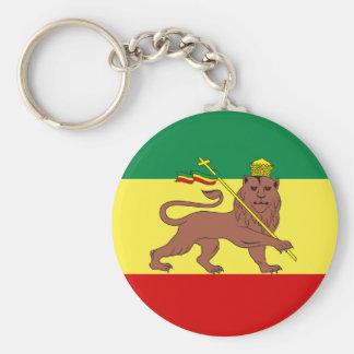Rasta Reggae Lion of Judah Keychain