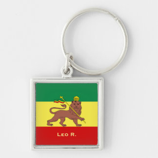 Rasta Reggae Lion of Judah Key Ring