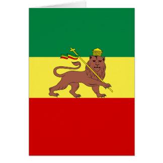 Rasta Reggae Lion of Judah Note Card