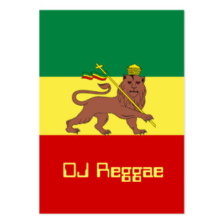 Rasta Reggae Lion of Judah Pack Of Chubby Business Cards