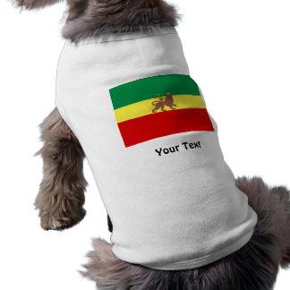 Rasta Reggae Lion of Judah Sleeveless Dog Shirt
