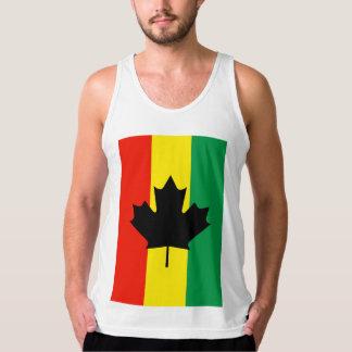 Rasta Reggae Maple Leaf Flag Tank Top