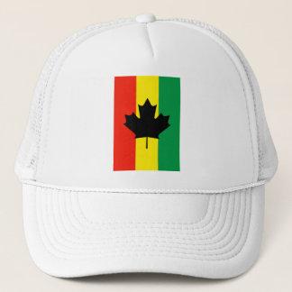 Rasta Reggae Maple Leaf Flag Trucker Hat
