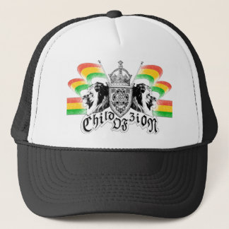 Rasta Reggae Royal Crest Trucker Hat