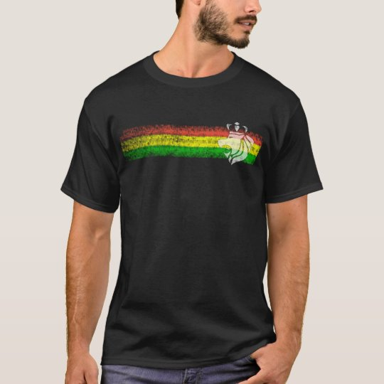Rasta Reggae Stripes with Crowned Lion T-Shirt