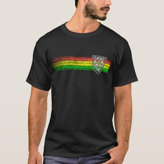 Rasta Reggae Stripes with Shield of David T-Shirt