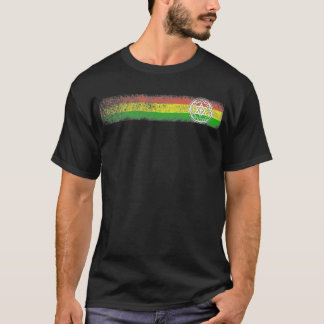 Rasta Reggae Stripes with Star and Cross T-Shirt