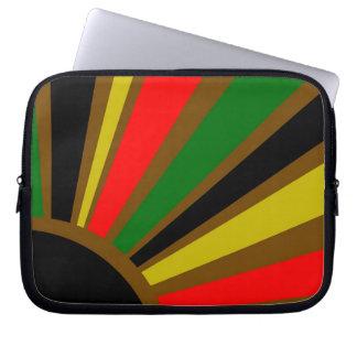 Rasta Restyled Rising Sun Laptop Computer Sleeves