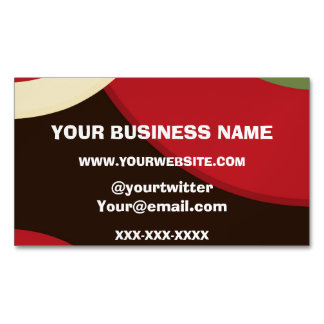 Rasta Retro Magnetic Business Cards