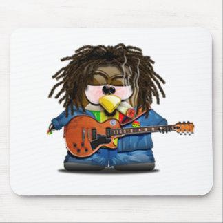 Rasta Rocker Reggae Tux Mouse Pad